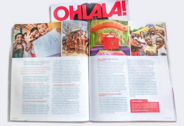Revista Ohlala entrevista a Expedicíon Sonrisa y la vuelta al mundo un juego inflable