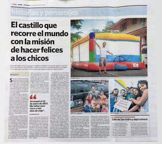 Diario Clarín Zonal San Isidro Historia de Facundo Mattos y su Expedición Sonrisa
