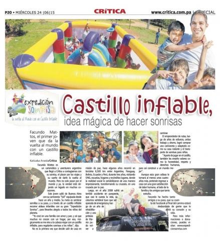 Diario Crítica de Panamá: Castillo inflable, la idea mágica de hacer sonrisas