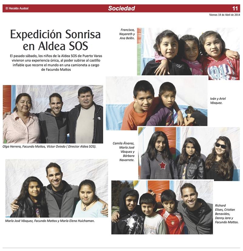 Diario El Heraldo Austral de Chile: Expedición Sonrisa en Aldea SOS